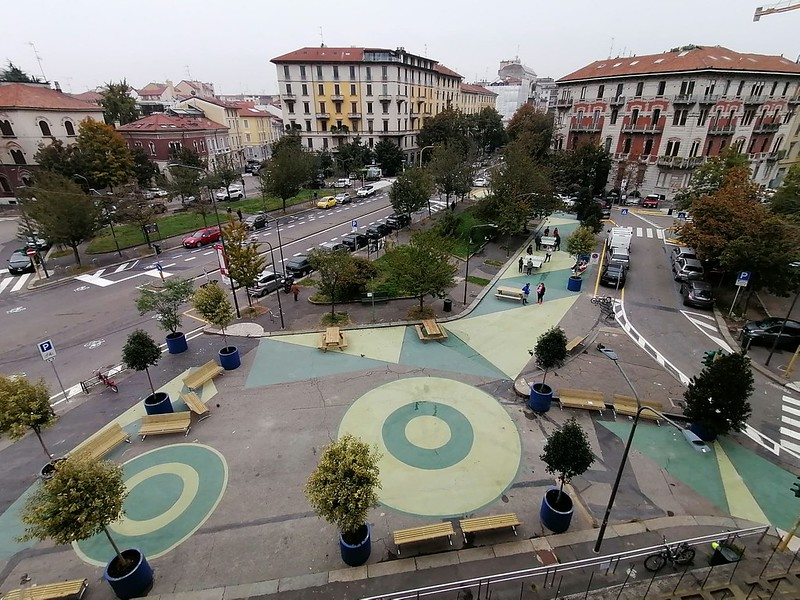 Piazza Sicilia: nasce una nuova piazza, un biscione green per Milano